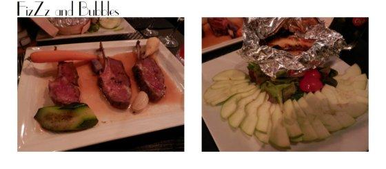 Agneau pour Nelfe / Camembert au four avec ses pommes acides pour moi! Un délice!